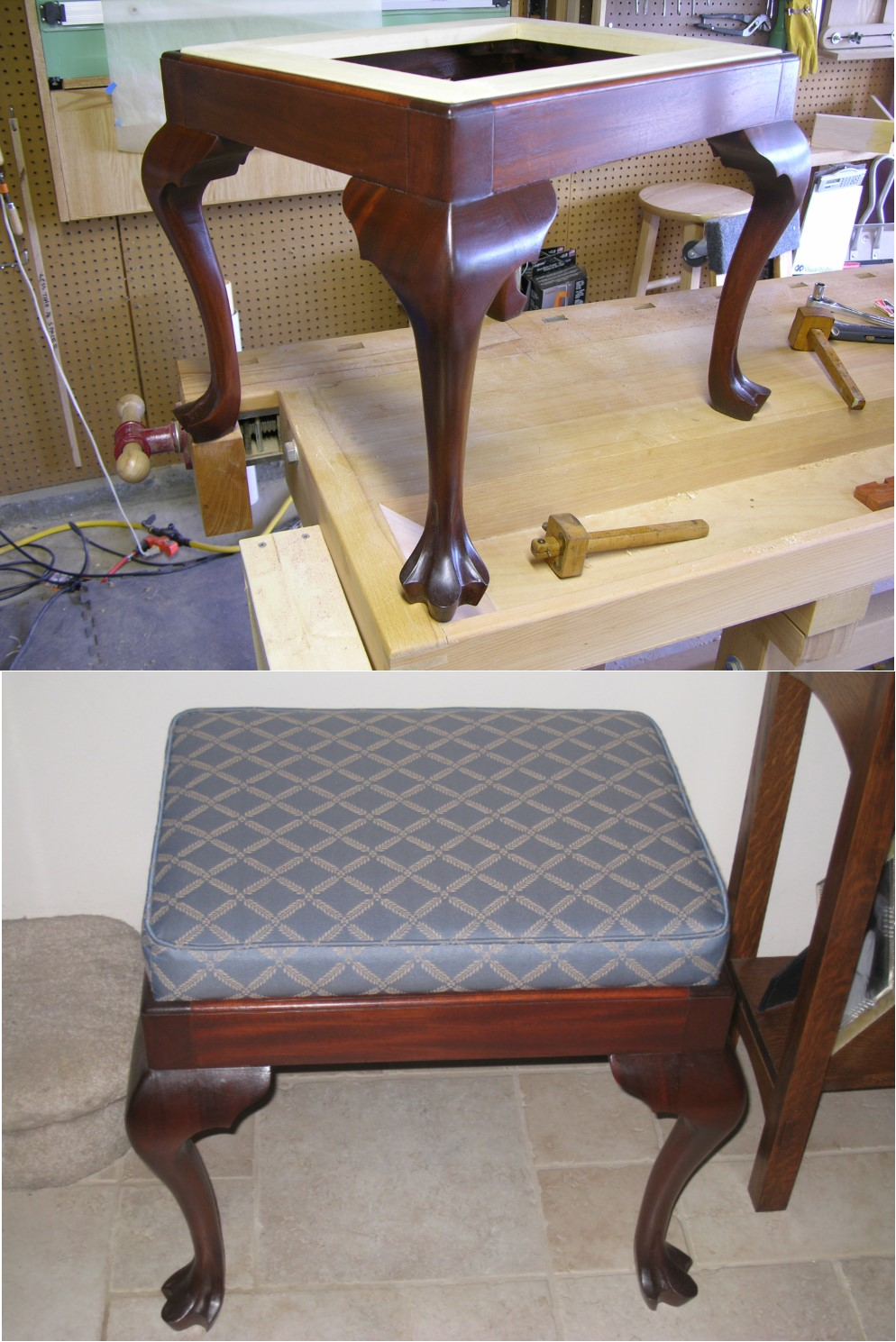 Chippendale Footstool